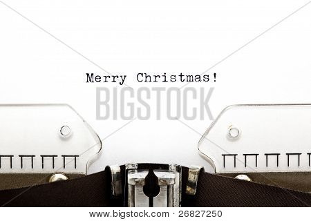 Merry Christmas On Typewriter