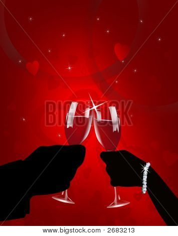 Romantic Valentine Toast