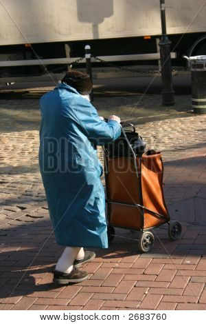 Elderly Lady Shopping