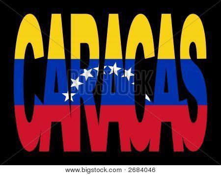 Caracas Text With Flag