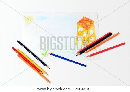 Child's drawing the house