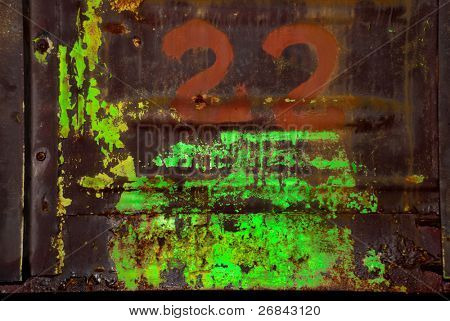 Background in toxic style on a metal surface