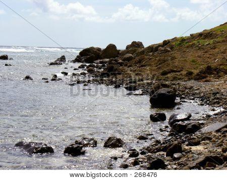 Felsige Küste Insel