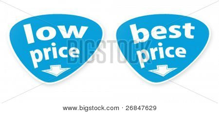 Vector buttons with the text of sales