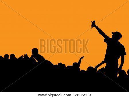 Rapper Konzert