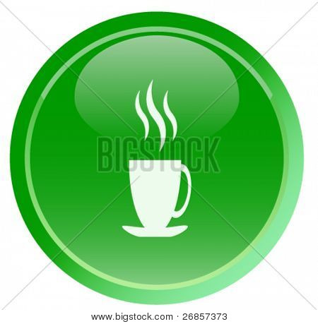 Green tea icon  (web button)