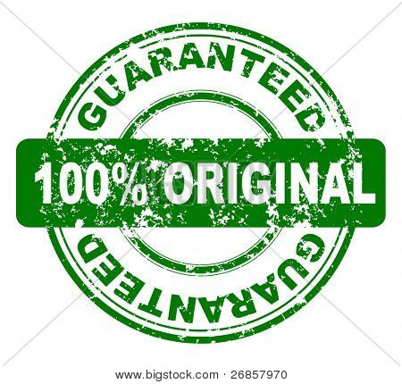 grunge stamp with 100% original guaranteed