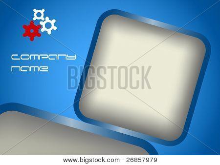 Fondo abstracto azul y vector ilustración con copia espacio