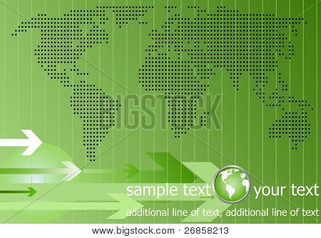 green template information web background