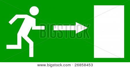 Emergency exit door, sign with human figure (jpg)