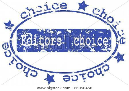 Abstract blue grunge rubber stamp with the text Editors Choice written in the stamp (jpg)