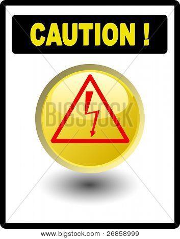 Vorsicht Zeichen Hochspannung in schwarzen Rahmen, jpg