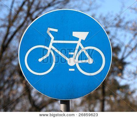 Fahrrad erlaubte Zeichen im park