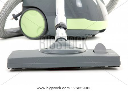vacuum cleaner isolated over white, close up