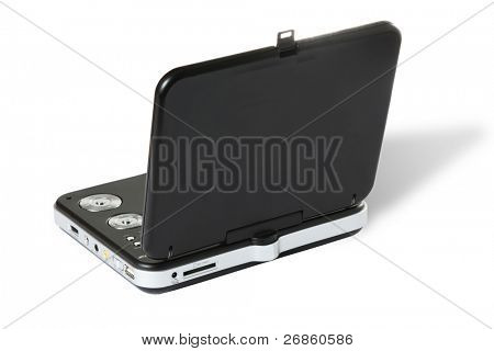 portable DVD at white background