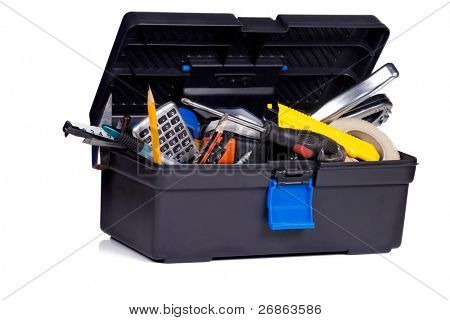 isolated toolbox on white background