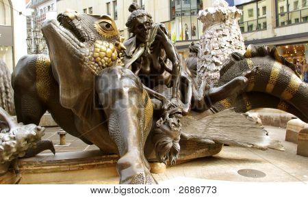 Marriage Merry-Go-Round Fountain, Ehekarusell - Nurenberg, Germa