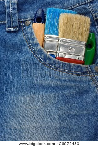 tool on jeans texture pocket