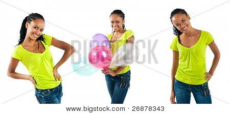 una fotos de mujeres negras feliz
