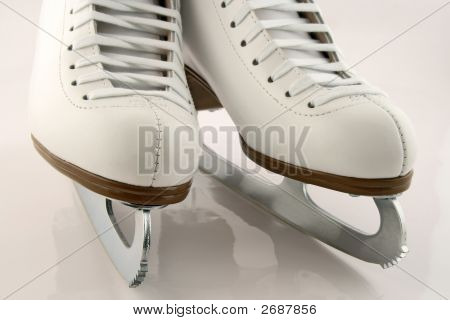 A Pair Of White Figure Skates