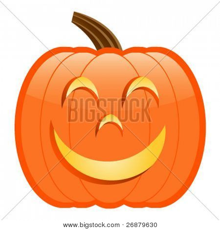 Smiley Jack-O-Lantern; perfect for Halloween projects