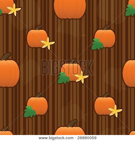 Raster version of autumn pumpkins arranged on a seamless striped tile; gradients used.