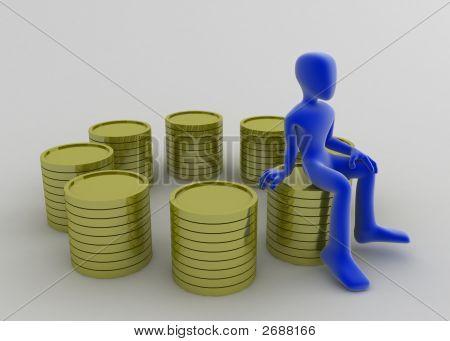Many Coin Stacks