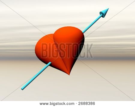 Red Heart With Arrow