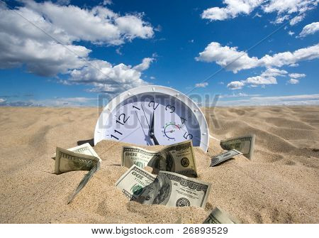 Lost Time And Money Concept