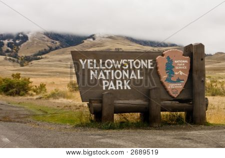 Yellowstone National Park Gate Sign, Montana
