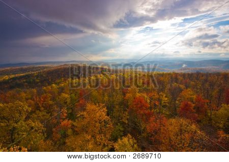 Southern Vermont Autumn Colors And Scenic Landscape