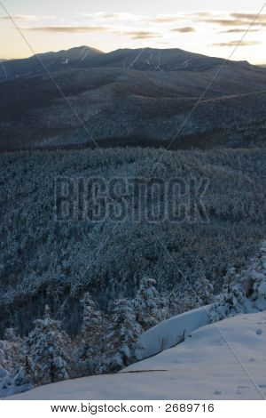 View Of Mad River Glen And Sugarbush Ski Areas From Burnt Rock, Green Mountains, Vermont