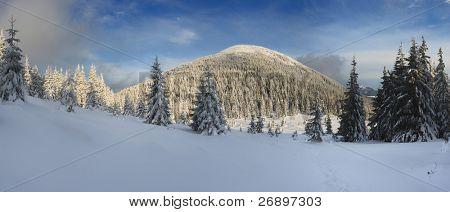 ein frostigen Tag ist in Bergen