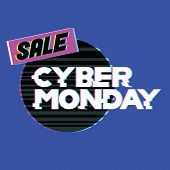 Cyber Monday Sale And Discount In Web Shop And Online Internet Store. Advertising, Discount, Sale, S poster