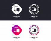 Logotype Concept. Chat Sign Icon. Speech Bubble Symbol. Communication Chat Bubble. Logo Design. Colo poster