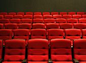 image of movie theater  - Rows of theatre seats - JPG