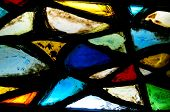 stock photo of stained glass  - Fragment of a stained glass - JPG