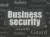 Security Concept: Business Security On Wall Background poster