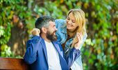 Man Wait Girlfriend. Park Best Place For Romantic Date. Couple In Love Romantic Date Nature Park Bac poster