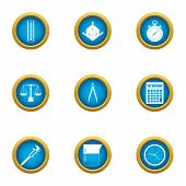 Engine Room Icons Set. Flat Set Of 9 Engine Room Icons For Web Isolated On White Background poster