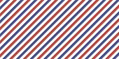 Classic Retro Background With Diagonal Stripes Red Blue Color, Vector Color Stripes Flag, Airmail poster