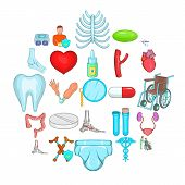 Retreat Icons Set. Cartoon Set Of 25 Retreat Icons For Web Isolated On White Background poster