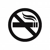 No Smoking Icon Isolated On White Background. No Smoking Icon In Trendy Design Style. No Smoking Vec poster