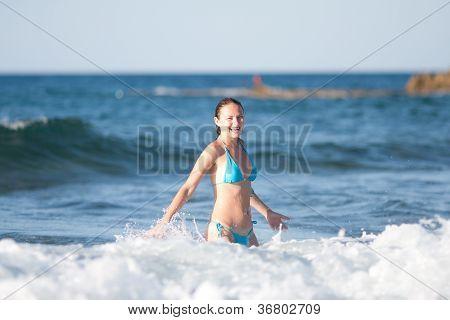 Adult Woman Having Fun