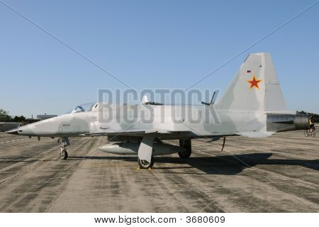 Jetfighter With Red Star