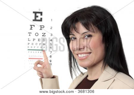Optometrist With Eye Chart