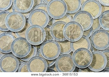 2-euro Coins Background