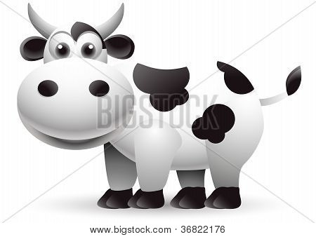 illustration of cow cartoon
