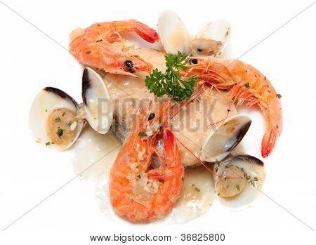 Slice Of Hake With Seafood