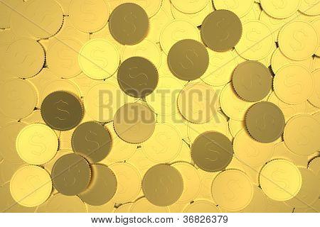 Abundance of dollar coins